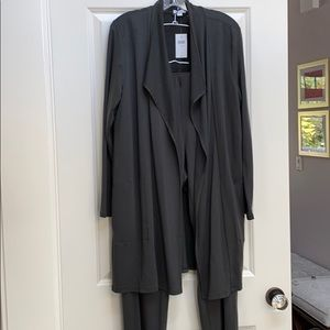 J Jill suit  with duster jacket